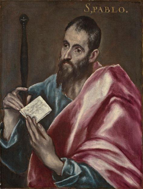 San Pablo Domenikos Theotocopoulos, El Greco (Candia, Creta, 1541-Toledo, 1614)  Fecha de ejecución: ca. 1608-1614 Técnica: Óleo sobre lienzo Medidas: 70 x 53 cm Procedencia: Depósito del Museo Nacional de Escultura