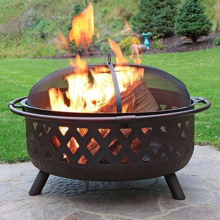 Patio Garden Fire Pit Bowl Large Fire Pit Outdoor Fire Pit