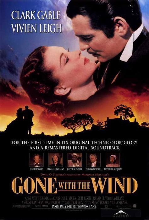 Gone With The Wind Movie Poster 27 X 40 Clark Gable Vivien Leigh A, Licensed