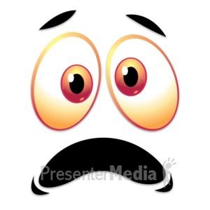 Happy Excited Expression Eyebrows Raised Great Powerpoint Clipart For Presentations Presentermedia Com Clip Art Scared Face Eye Expressions
