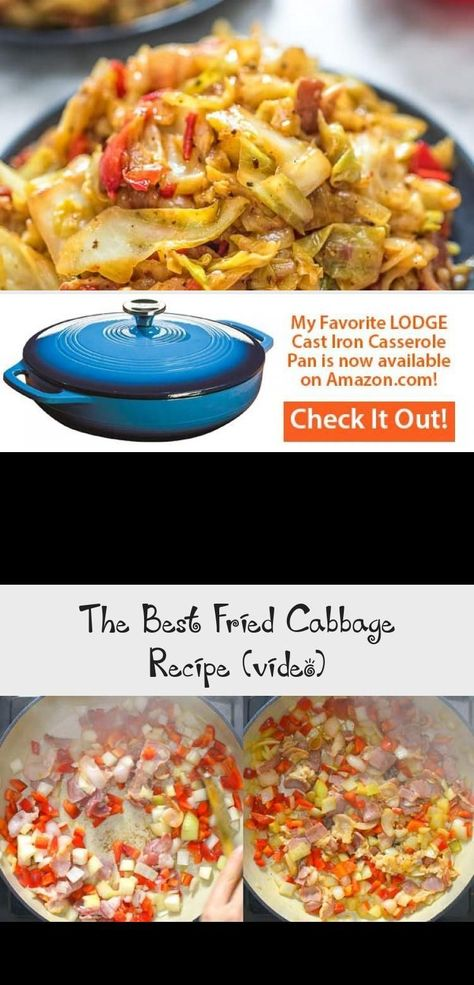 This Fried Cabbage recipe is insanely good! Made with bacon, onion, bell pepper, and a touch of hot sauce, it is easy to make, simple, and comes out perfect every time! #cabbage #dinner #thanksgiving #winter #bacon #yummywinterrecipes #friedcabbagewithbaconandonion This Fried Cabbage recipe is insanely good! Made with bacon, onion, bell pepper, and a touch of hot sauce, it is easy to make, simple, and comes out perfect every time! #cabbage #dinner #thanksgiving #winter #bacon #yummywinterrecipes