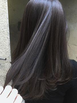 2019年冬 ワンカール大人かわいい暗髪ハイライトブラックグレーパール