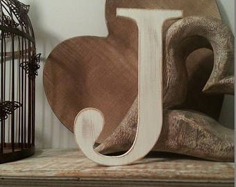 Giant Wooden Letter J Times Roman Font 50cm High 20 Inch Any