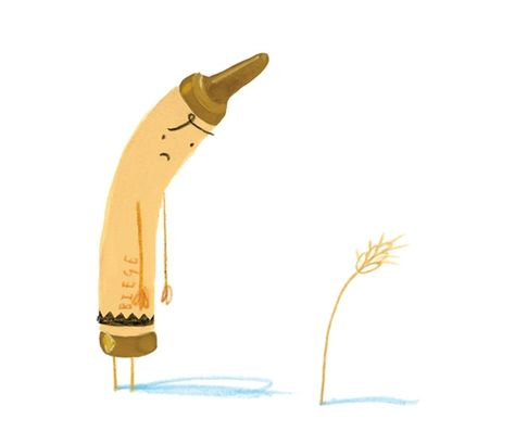 Image result for the day the crayons quit beige crayon