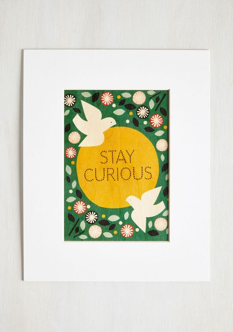 Pop Inquisitive Print We Could All Use A Little Reminder To Indulge Our Curiosity Let This Earth Toned Print Be Yours Multi Cute Wall Decor Wall Decor Stickers Frame Wall Decor