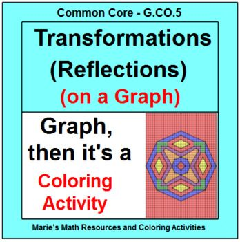 This Is Two Coloring Activities Using Reflections Over The Y Axis And Then Over The X Axis All Ref Color Activities Mathematics Worksheets Middle School Math