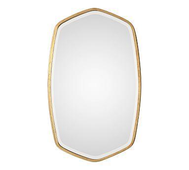 Oceano Gold Frame Wall Mirror 22 X 36 Framed Mirror Wall Mirror Wall Gold Frame Wall 22 x 36 mirror