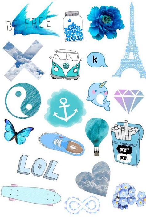Синие картинки для личного дневника