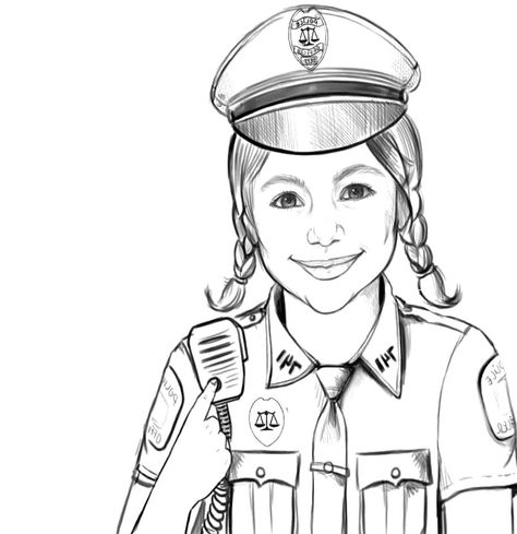 9 Mewarnai Gambar Polisi Coloring Pages Police Coloring Pages Military Police