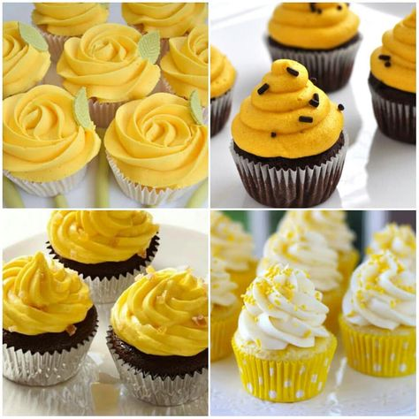 Ideias De Cupcakes Amarelos Yellow Cupcakes Ideas Cupcake