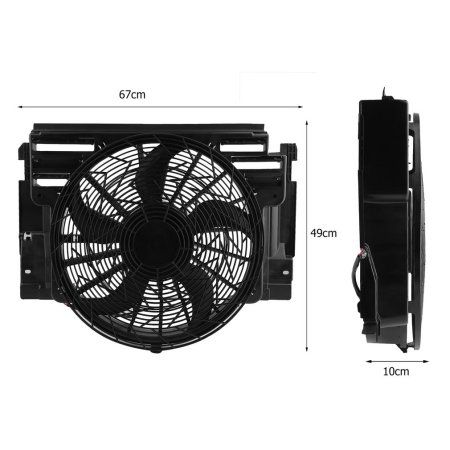 Durable Auto Radiator Condenser Electric Cooling Fan For Bmw X5