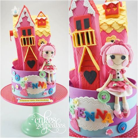 Colorful Lalaloopsy Birthday Cake