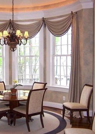 Window Treatments For Dining Room Elegant Design By Linda H Bassert Masterworks In 2020 Window Treatments Living Room Dining Room Window Treatments Living Room Windows