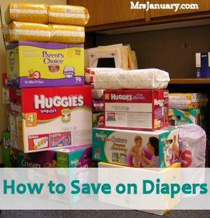 How To Save Money On Diapers via MrsJanuary.com
