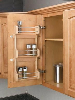 Japanese Houses Can Be Small And Also Kitchens In Japanese Homes Can Be Much Smaller Sized Cabinet Door Storage Door Mounted Spice Rack Cabinets Organization