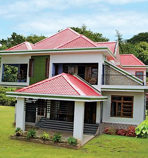 Pre Painted Roofing Sheets Pre Painted Color Coated Roof Sheets Metal Roof Houses House Roof Bungalow House Design