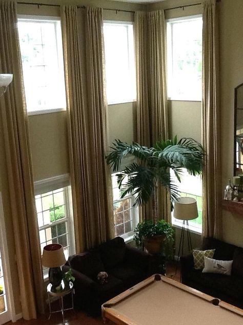 Ideas Two Story Foyer Window Treatments