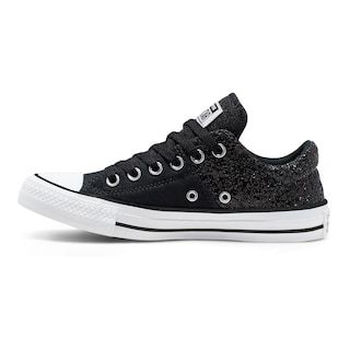 converse leather and shimmer