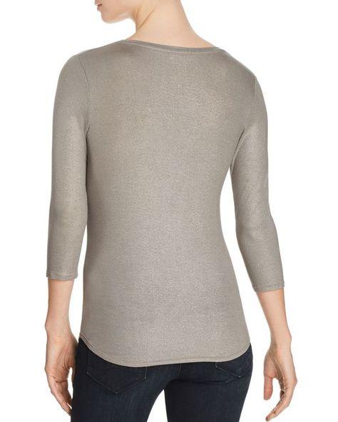 Majestic Filatures Womens Metallic Viscose Elastane T-Shirt