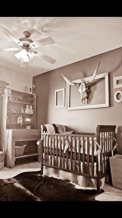 Western themed baby nursery. Omg I love this I would do this with a boy for sure