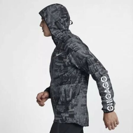 despreciar nombre de la marca Renunciar  New Mens Nike 2018 Chicago Marathon Running Jacket 933326-010 Black/Grey  Size L in 2020 | Running jacket, Nike running jacket, Chicago marathon