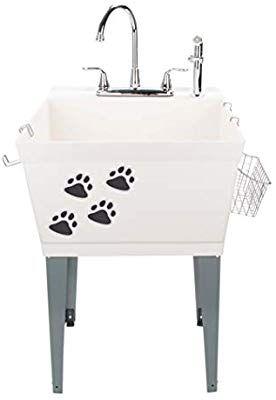 Amazon Com Laundry Sink Utility Tub With High Arc Chrome Faucet