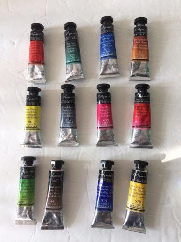 Lot Of 12 Sennelier L 039 Aquarelle Artist Watercolor Paint Tubes