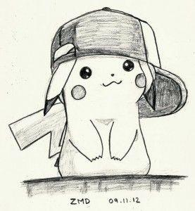 dibujo tierno pikachu a lapiz  Dibujitos Monos  Pinterest
