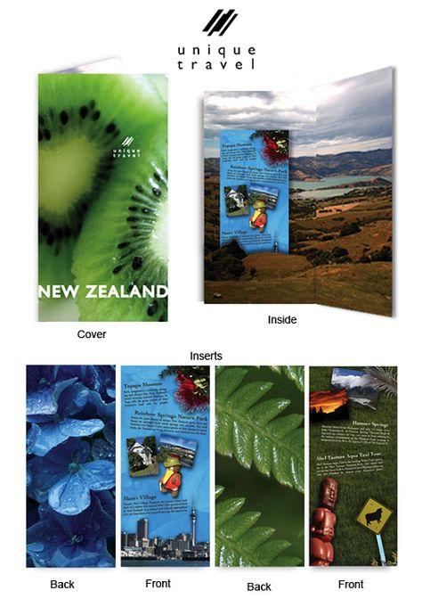 Travel Brochure Examples  New Zealand Travel Brochure  Brochure