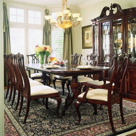 Lowest price online on all American Drew Cherry Grove 9 Piece Dining Set in Antique Cherry -