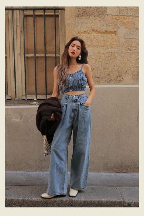 6 maneiras de usar a cal├Дa wide leg jeans nesse ver├Бo ┬╗ STEAL THE LOOK