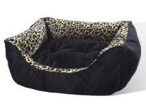 New Leopard Print Pet Cat or Dog Bed Kitty Cats for Extra Small Pets Under 15 lb