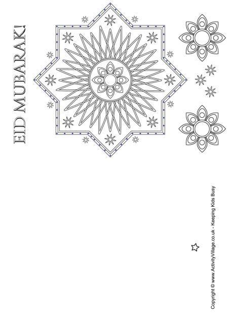 graphic relating to Eid Cards Printable identified as Eid Mubarak colouring card 1 Playing cards Eid, Eid mubarak, Eid