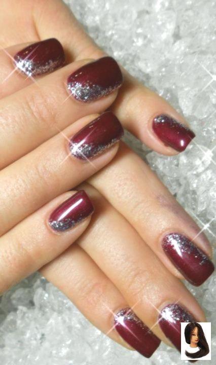 Nails Colors Maroon Burgundy 55 Ideas Nails Holidaynails Xmas Nails Christmas Nails Easy Christmas Nail Art Easy