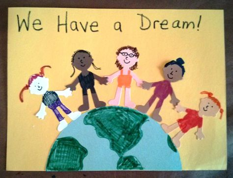Our art project for Martin Luther King Jr. weekend!
