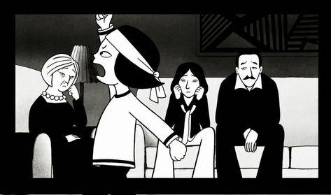 Persepolis A Outra Verdade Filmes Animacao E Preto E Branco
