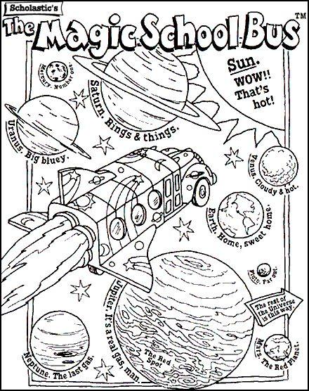 MSB coloring page MSB Magic School Bus Pinterest Magic