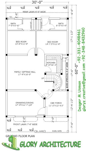 30x60 House Plan Elevation 3d View Drawings Pakistan House Plan Pakistan House Elevation 3d Elevation Gl My House Plans Drawing House Plans 3d House Plans