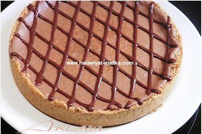 تشيز كيك النوتيلا في الفرن حلويات مليكة لعشاق الحلويات Food Desserts Pie