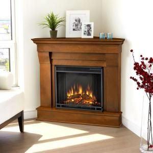 Real Flame Chateau 41 In Corner Electric Fireplace In Espresso