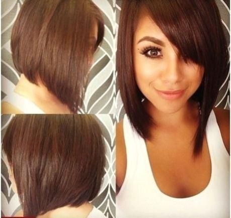 Short Hairstyle For A Round Face Agustos 2018 Neu Frisuren Stile 2018 Views Admi In 2020 Short Hair Styles For Round Faces Long Bob Haircuts Long Angled Bob Hairstyles