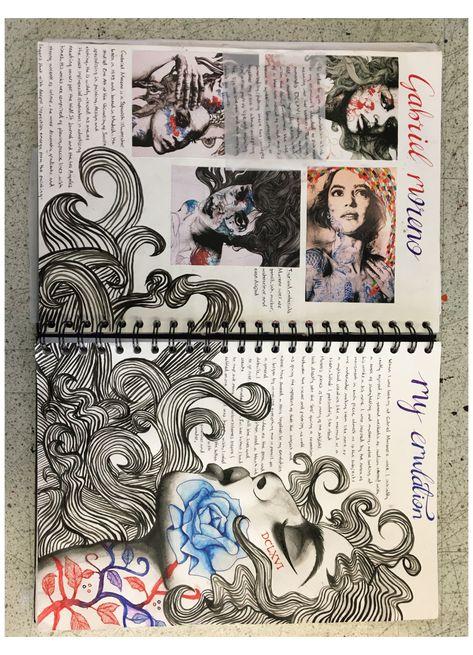 Art Inspo, Kunst Inspo, Kunstjournal Inspiration, Sketchbook Inspiration, Sketchbook Ideas, Le Wendigo, Arte Gcse, Portfolio D'art, Fashion Portfolio
