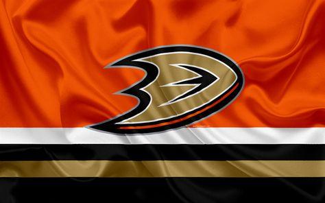 Download wallpapers Anaheim Ducks, hockey club, NHL, emblem, logo, National Hockey League, hockey, Anaheim, California, USA