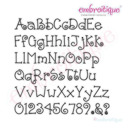 Ponies and Pigtails Monogram Font Set for machine embroidery Handwriting Alphabet, Hand Lettering Alphabet, Doodle Lettering, Creative Lettering, Lettering Design, Fun Fonts Alphabet, Cute Handwriting Fonts, Calligraphy Letters Alphabet, Letter Fonts
