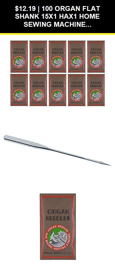 100 Organ 15X1 HAX1 Titanium Ball Point Flat Shank Home Sewing Machine Needles