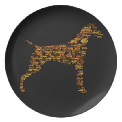 German Shorthaired Pointer Typography Melamine Plate - typography gifts unique custom diy  sc 1 st  Pinterest & German Shorthaired Pointer Typography Melamine Plate - typography ...