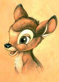 Meine Disney Zeichnung - Bambi (( ^ω^ ))  #DisneyZeichnungbleistiftbambi #DisneyZeichnungleinwand #tassiloDisneyZeichnung