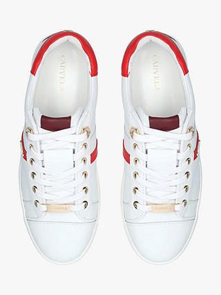Carvela Lisa Low Top Trainers, White