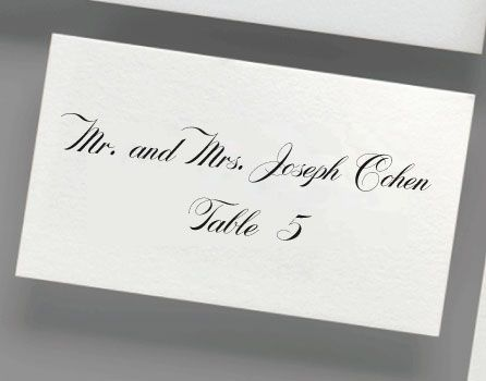 22 best digital calligraphy for place cards images on pinterest