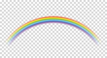 Rainbow Icon Realistic Perfect Icon Isolated On Transparent